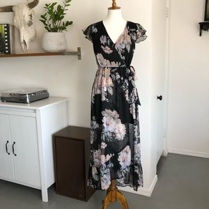 Band of Gypsies dreamy black floral dress